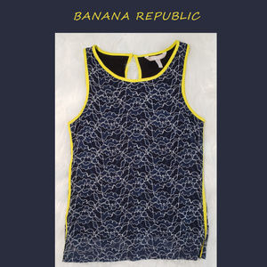 Banana Republic Blue Sleeveless Shirt Sz 00P